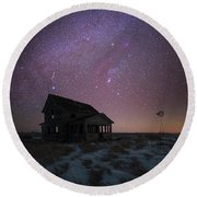 Round Beach Towel featuring the photograph Orion  by Aaron J Groen
