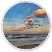 Ormond Beach Sunset Round Beach Towel