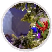 Ornament, Market Square Christmas Tree Round Beach Towel