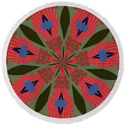 Ornament Number 41 Round Beach Towel