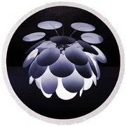 Ornamental Ceiling Light Fixture - Blue Round Beach Towel