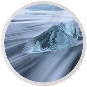 Ornate Ice Round Beach Towel