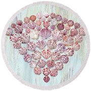 Ornate Scallop Beauties Round Beach Towel