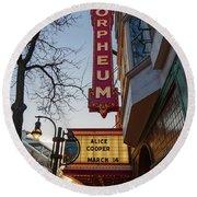 Orpheum Theater Madison, Alice Cooper Headlining Round Beach Towel