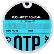Otp Bucharest Luggage Tag II Round Beach Towel