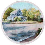 Our Haven In May Round Beach Towel