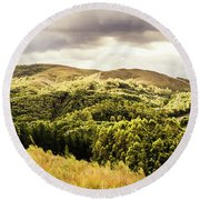 Out Back Zeehan Round Beach Towel