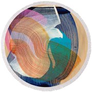 Out Of The Blue 07 Round Beach Towel