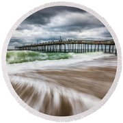 Outer Banks Nc North Carolina Beach Seascape Photography Obx Round Beach Towel