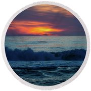 Outer Banks Sunrise Round Beach Towel