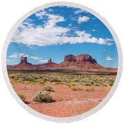 Outside The Park Round Beach Towel