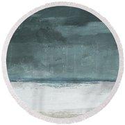 Overcast 2- Art By Linda Woods Round Beach Towel