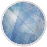Overlapping Lines 1 Round Beach Towel