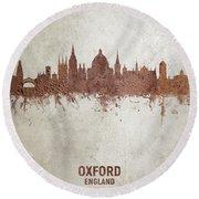 Oxford England Rust Skyline Round Beach Towel