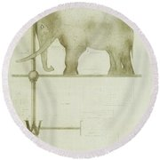 Pachyderm House, Philadelphia Zoo, Detail Of Weather Vane Round Beach Towel