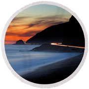 Pacific Coast Highway Round Beach Towel