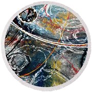 Paint Puddles Round Beach Towel
