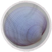 Painted Clam Shell No 26 Round Beach Towel