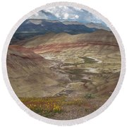 Painted Hills Spring Round Beach Towel