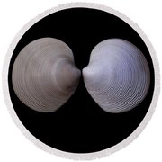 Painted Shell No. 12 Round Beach Towel