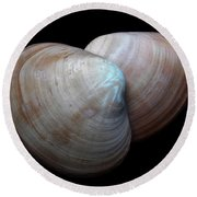 Painted Shell No. 5 Round Beach Towel