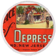 Palace Of Depression Round Beach Towel