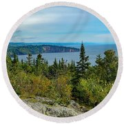 Palisade Head Round Beach Towel