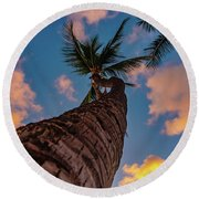 Palm Upward Round Beach Towel