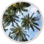 Palms  Beach Round Beach Towel