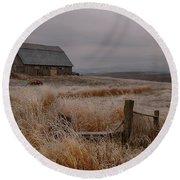 Palouse Frost Round Beach Towel
