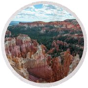 Panorama  From The Rim, Bryce Canyon  Round Beach Towel