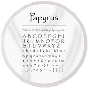 Papyrus - Most Wanted Round Beach Towel