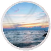 Paradise Beauty Round Beach Towel