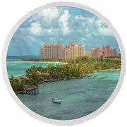 Paradise Island Bahamas Round Beach Towel