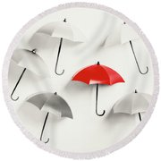 Parasol Pop Round Beach Towel
