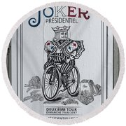 Paris Joker Round Beach Towel