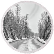 Round Beach Towel featuring the photograph Parting Of The Trees by Rod Best