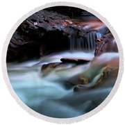 Passion Of Water Round Beach Towel