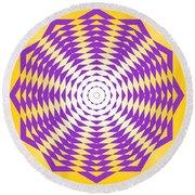 Passionate Purple  Round Beach Towel