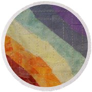 Pastel Color Study Round Beach Towel