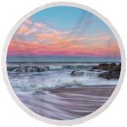 Pastel Sunrise Round Beach Towel