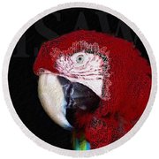 Patchwork Parrot Round Beach Towel