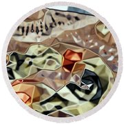 Patchwork Shapes Round Beach Towel