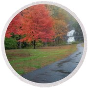 Round Beach Towel featuring the photograph Path To The Falls by Bill Wakeley
