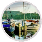 Peace In Lake Windermere Round Beach Towel