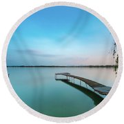 Peacefull Waters Round Beach Towel