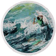 Pedal To The Metal Round Beach Towel