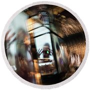 Round Beach Towel featuring the photograph Peering Through by Alex Lapidus