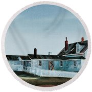 Pemaquid Light Round Beach Towel