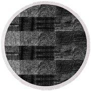 Pencil Scribble Texture 1 Round Beach Towel